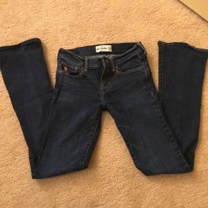 Abercrombie girls jeans 12 Slim boot cut